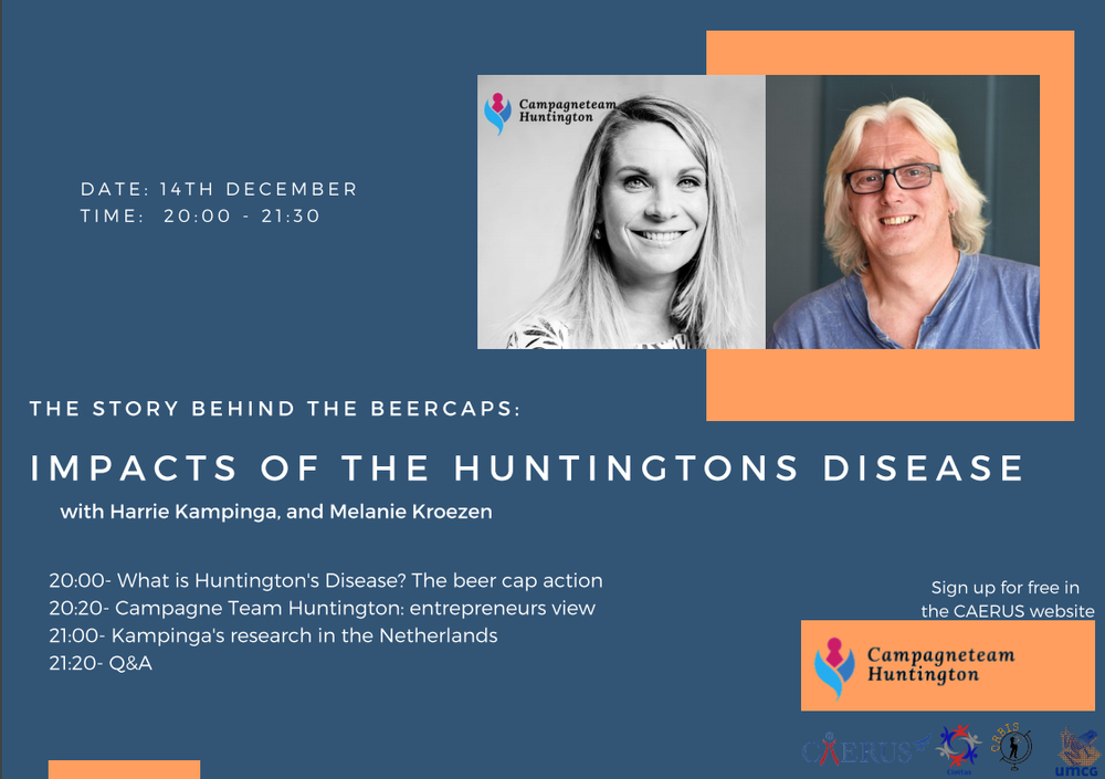 Lecture: The story behind the beercaps: impacts of the Huntingtons disease