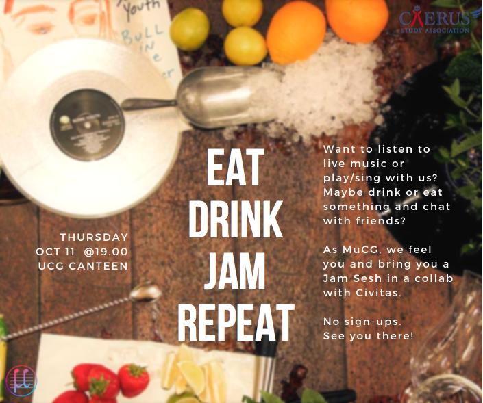 EAT. DRINK. JAM. REPEAT.