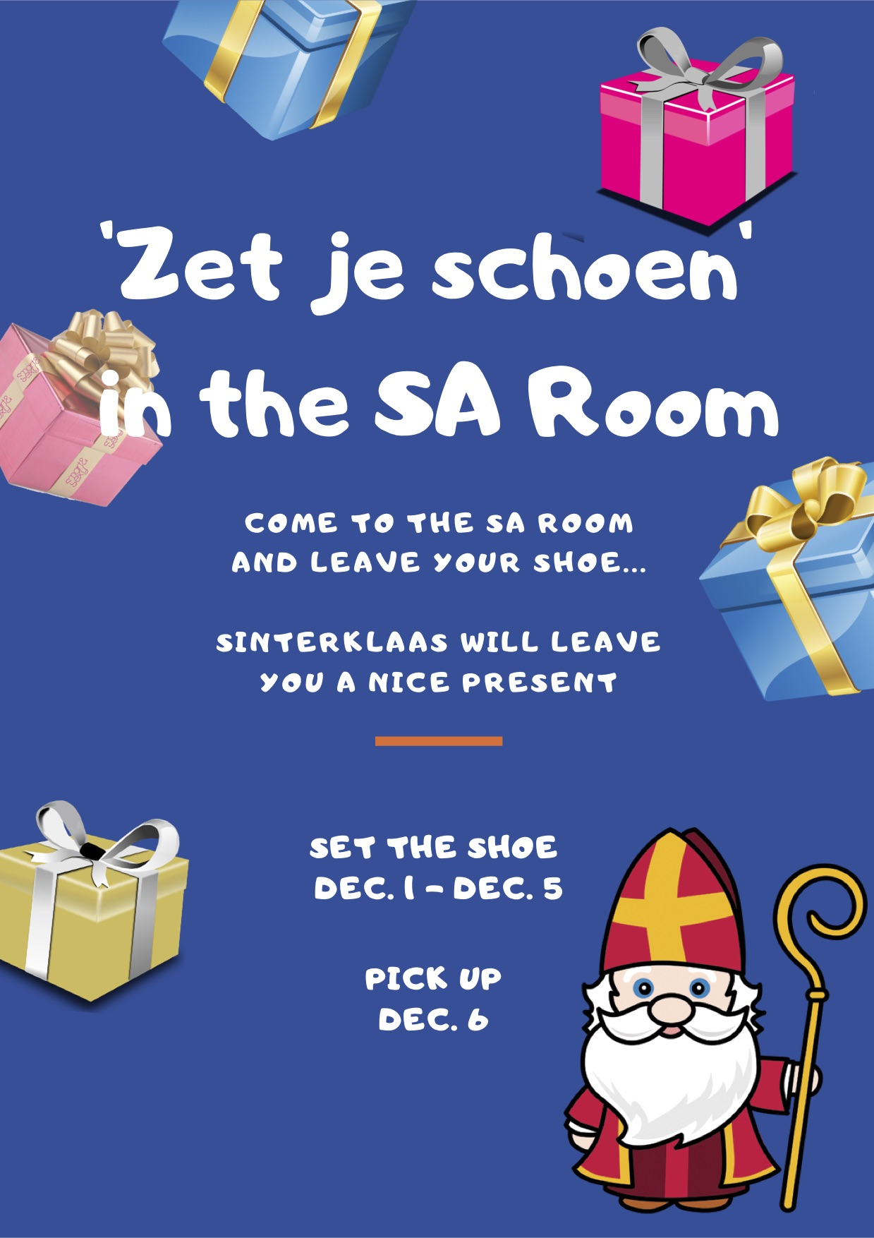'Zet je Schoen' in the SA room!