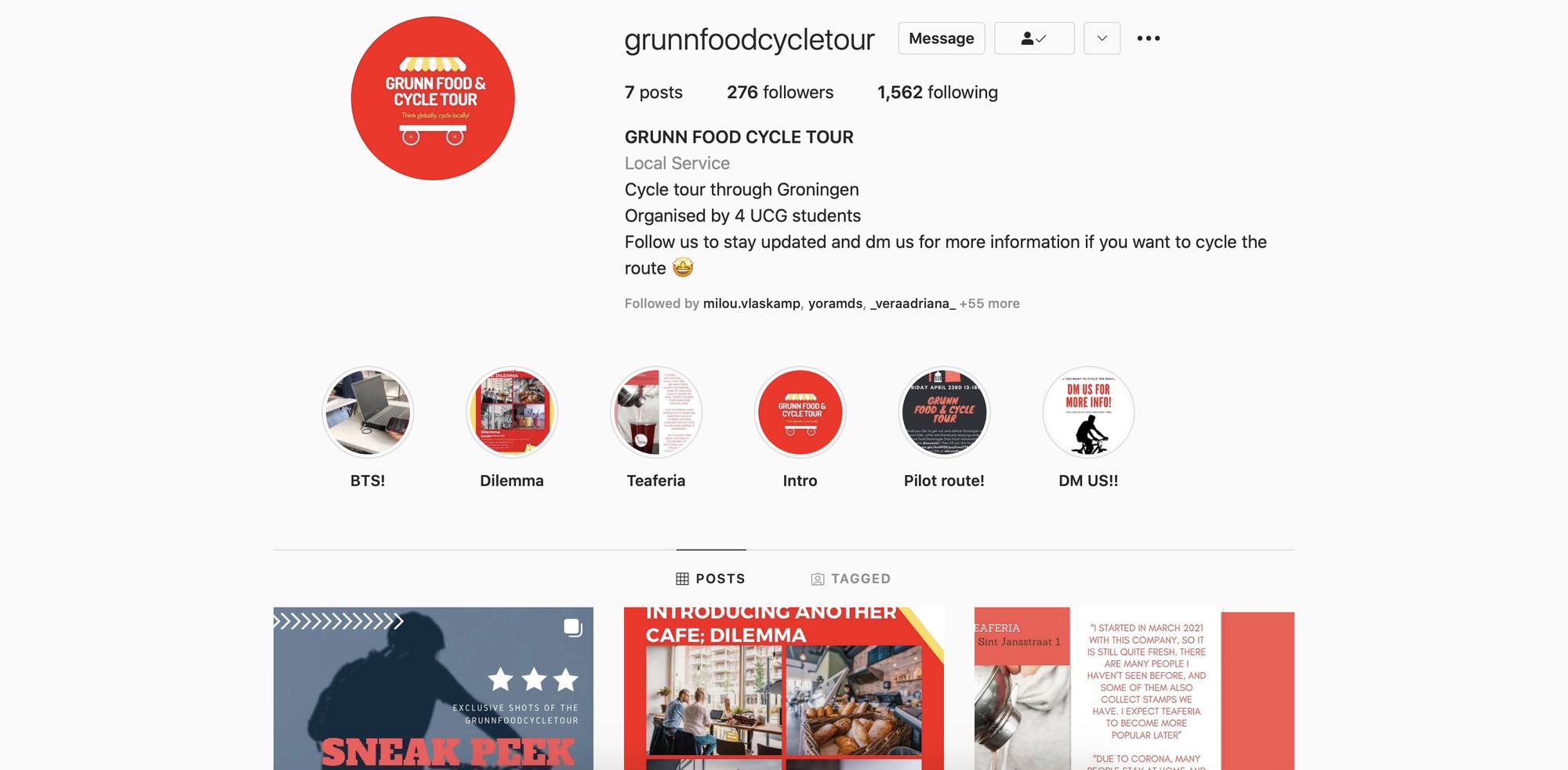 Grunn Food & Cycle Tour