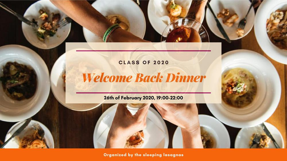 Welcome Back Dinner