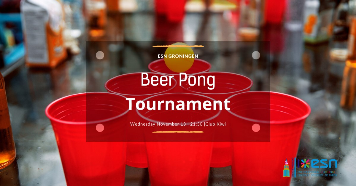 ESN Beer pong tournament