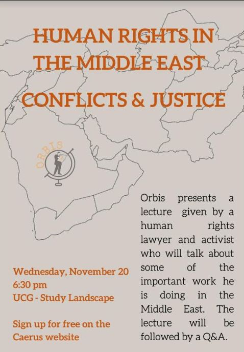 Lecture: Human Rights in the Middle East- Conflicts and Justice